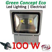 NEW 100W LED Flood Light Outdoor IP65 240V Cool White AU Plug SAA Approved