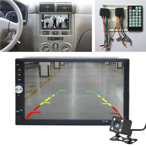 "7"" Touch Screen 2 DIN Car Stereo HD MP5 Player + Night Look Rear View Camera"