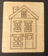 House Wooden die fits Big shot, Bit shot Pro Sizzix machines