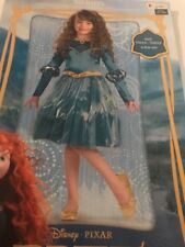 Size 4-6X Disney Princess Brave Merida Deluxe Costume Dress Up Hallween New