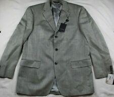 NWOT $250 Liz Claiborne Mens Size 42 100% Silk Blend Gray Suit Blazer Jacket