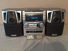 Aiwa CX-NAJ20 Stereo Double Cassette Tape 3-Disc CD Player W/Remote-Parts/Repair