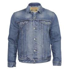 Ex Levi's Classic Vintage Style Regular Fit Men's Trucker Blue Denim Jacket Top