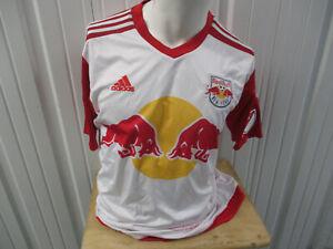 VINTAGE ADIDAS MLS NEW YORK RED BULLS Sacha Kljestan #16 XL JERSEY 2015/16 KIT