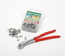 Clipzange + 600 Clips Verbindungsclips Bekaert Volieren Zaunverbinder Casanet