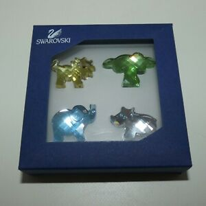 Swarovski Crystal Austria Boxed set of 4 African Dream pieces 665039