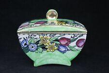 English Art Deco Maling Ware Floral Lustre Ware Trinket Box/Dish