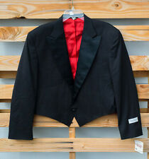 NEW Pagano West Clint Polyester & Wool Western Cowboy Tuxedo Suit Jacket Sz 44