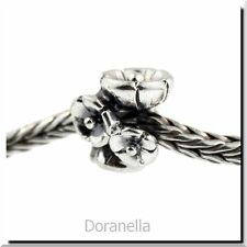 Authentic Trollbeads Sterling Silver 11262 Forget Me Not, Silver :0