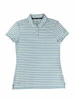 NWT Nike Golf Womens Dri-Fit Victory Striped Short Sleeve Shirt Blue 884867-452