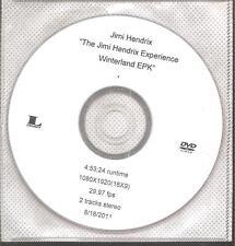 """JIMI HENDRIX """"The Jimi Hendrix Experience Winterland EPK"""" Advance Promo DVD"""