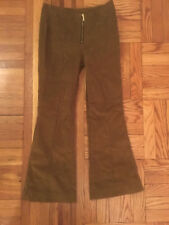 Flare Leg Corduroy Trousers Brown Size S Orig. $76 NEW