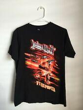 Judas Priest Firepower Tour Shirt Size M Black T-Shirt 100% Cotton