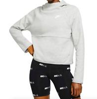Nike Sportswear Tech Fleece Womens Hoodie Dark Grey Heather BV4473 063 - SIZE S