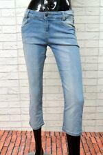 Jeans CACHE CACHE Donna Taglia Size 38 Jeans Bermuda Corto Slim Pants Woman