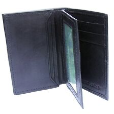Balck Quality Soft Nappa Leather Card Holder with ID Window - AD 166