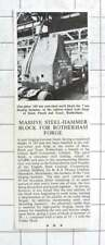 1956 Massive Steel Hammer Block For Rotherham Forge Steel Peech And Tozer
