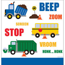 Traffic Jam, Construction, school bus Plastic Tablecover Birthday Party Supplies