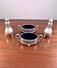(4) RARE LARGE TIFFANY & CO STERLING SILVER MASTER SALT CELLARS & PEPPER SHAKERS