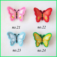 "20 BLESSING Women Girl Fashion 2.5"" Embroidery Butterfly Clip Accessories Baby"