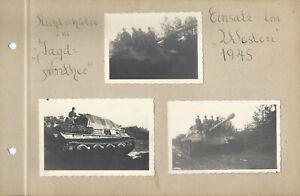 3 X Foto Richtschütze Jagd Panther  Panzer Einsatz im Westen 1945 org. Fotos