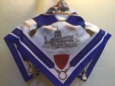 Vtg Silk Scarf Wrap London Buckingham Palace Parliament 31� Sq Mint
