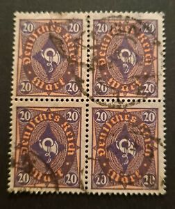 German Reich 1922 Posthorn Michel 207w