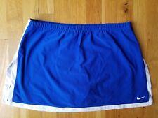 Nike womens blue white tennis skirt skort shorts medium M Euc