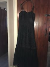 Stunning Vintage 1940/50s Black Lace Ballgown Gothic wedding Gorgeous