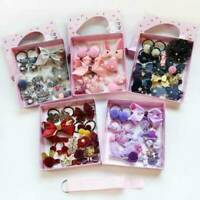 18Pcs/Kit Baby Girl Hair Clip Bow Flower Mini Barrettes Party Star Kids Hairpins