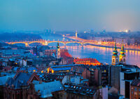 HUNGARY BUDAPEST NEW A3 CANVAS GICLEE ART PRINT POSTER