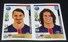 459 460 ZLATAN IBRAHIMOVIC CAVANI PARIS PSG PANINI FOOTBALL FIFA 365 2015