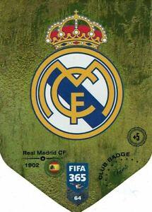 PANINI ADRENALYN FIFA 365 2019 N.64 REAL MADRID CLUB BADGE