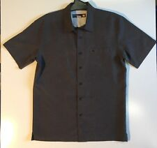 Quiksilver Mens Waterman Collection Long Sleeve Shirt Brown Patterned  S