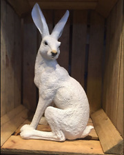 New* Limited** Large White Resin March Hare - Garden Ornament