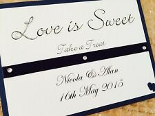 Handmade Personalised Love Is Sweet Sign Wedding Signs