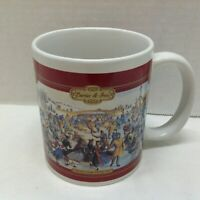 Designs Currier & Ives Coffee Mug Cup Central Park Winter 1862