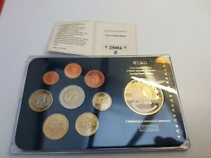 1 Cent - 2 Euro 2014 Prestige Set KMS Excellent Condition Coins Latvia