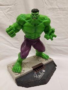 HARD HERO SIGNED By STAN LEE INCREDIBLE HULK STATUE AVENGERS Figurine Thor Bust