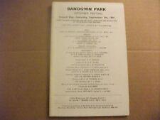 SANDOWN RACE CARD ~  7TH SEPTEMBER 1974 ~ THE WILLIAM HILL TROPHY & PAT EDDERY