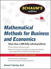 Mathematical Methods for Business and Economics by Edward Dowling and Edward...