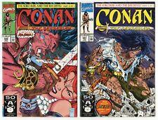 Conan the Barbarian #241, 242  avg. NM- 9.2  McFarlane cover  Marvel  1991