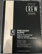 American Crew Precision Blend Natural Grey Coverage Light 7-8 New