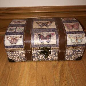 Punch Studio Storage Keepsake Gift Box Stacking Trunk Kirshner Postcard Paisley