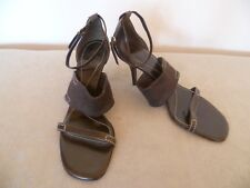 LADIES BALLY SIZE 6 UK  39 EU BROWN STRAPPY STILETTO SANDALS SHOES
