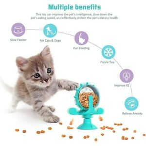 Interactive Toys For Cats Dog Safe Windmill  Dispensing  Pet Slow feeder Cup New