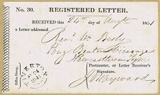 1841 Registered Letter Receipt - a VERY early example Tiverton - Newcastle.