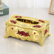 Vintage European Tissue Box Napkin Holder Paper Towels Case Cover for Home Decor