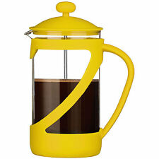 Yellow Kenya 4 Cup Glass Cafetiere Coffee Heat Resistant 600ml Modern Cups New