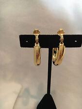Monet Gold Tone Comfort Clip on Earrings Hoops